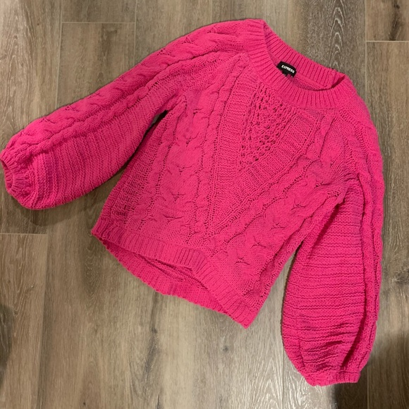 Express Pink knit sweater